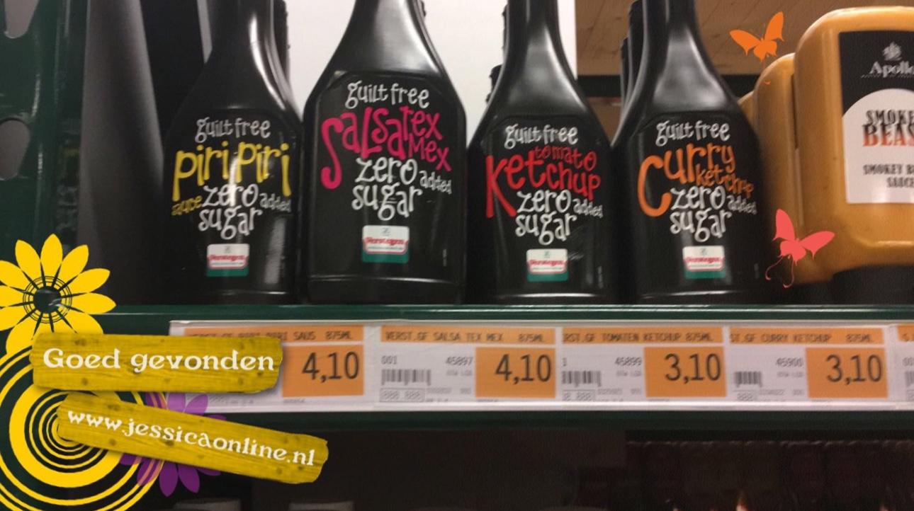 GoedGevonden JessicaOnline.nl Verstegen sauzen zonder suiker toegevoegd