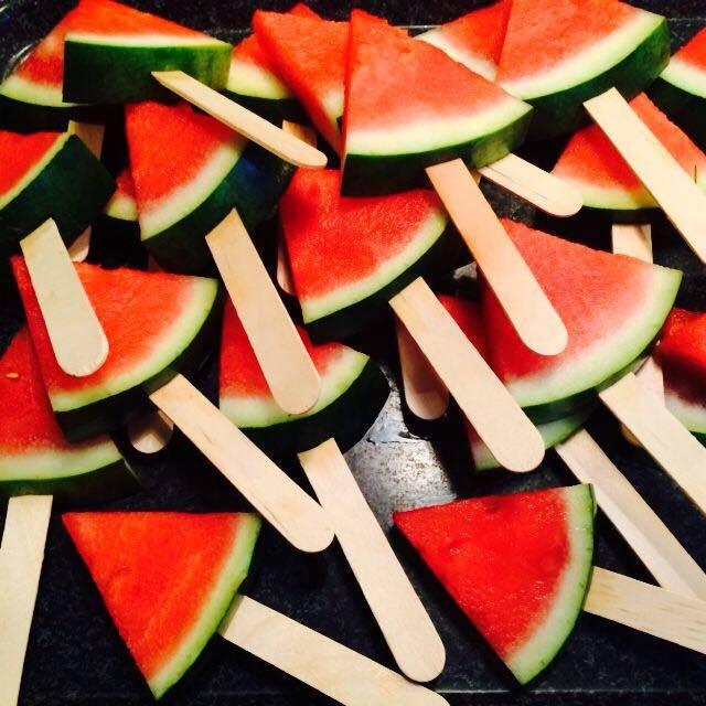 Watermeloen lolly's