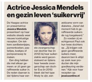 Jessica Mendels in het AD