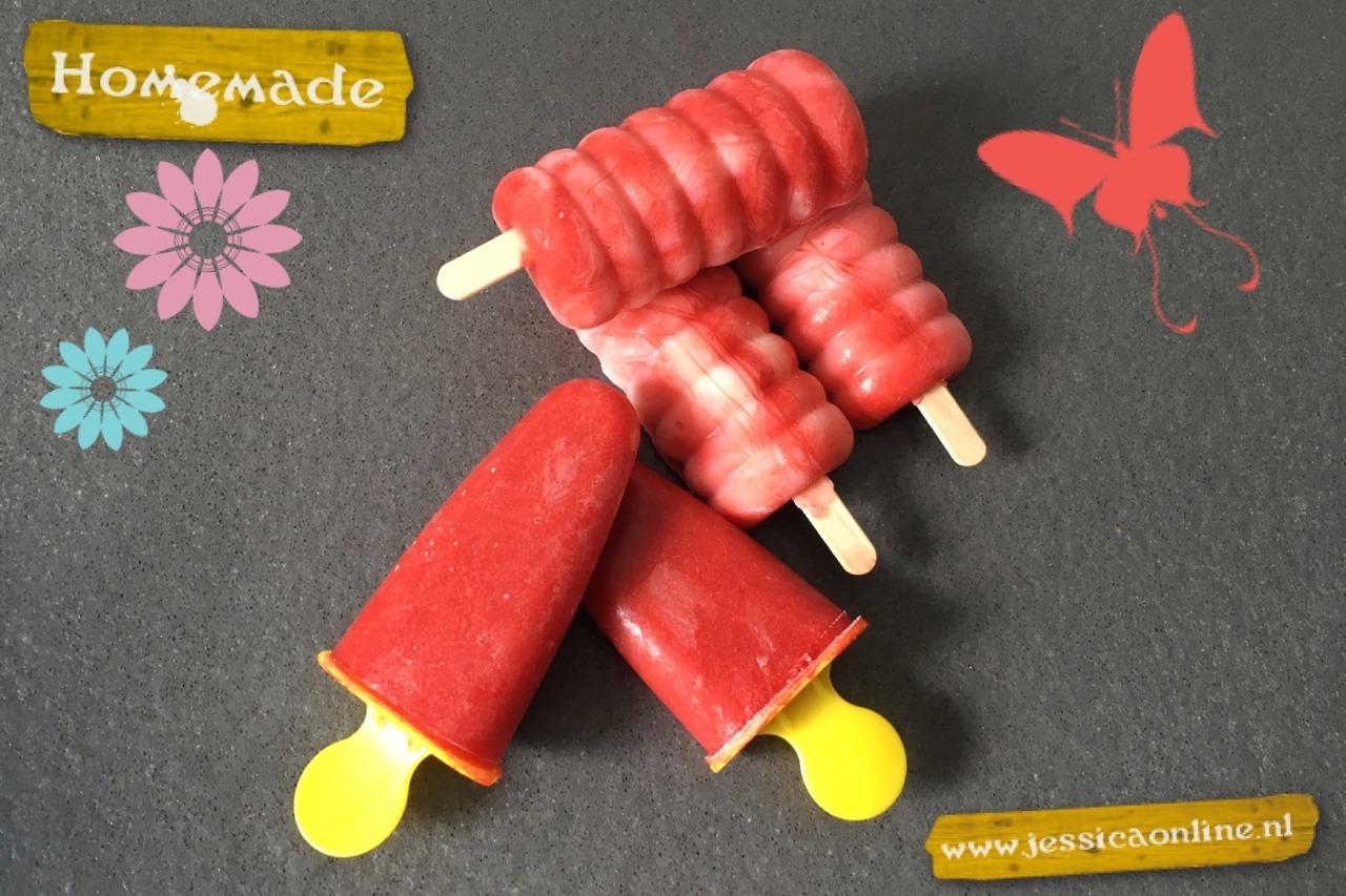 Aardbeien ijsjes
