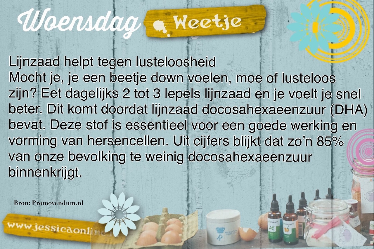 Woensdag Weetje JessicaOnline.nl2