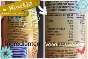 JessicaOnline.nl Ingrediënten vs voedingswaarden