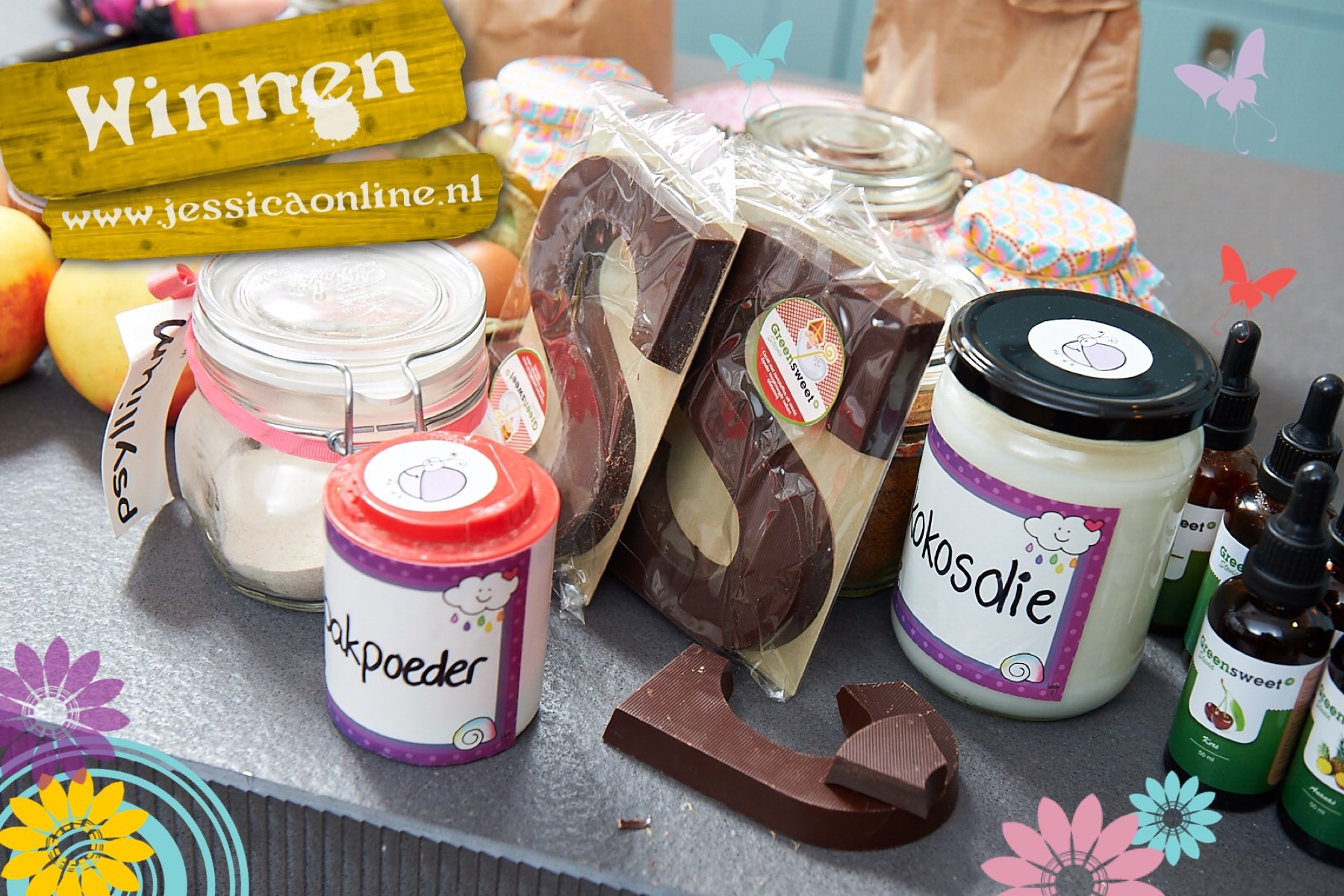 chocoladeletters winnen bij GreenSweetStevia via JessicaOnline.nl
