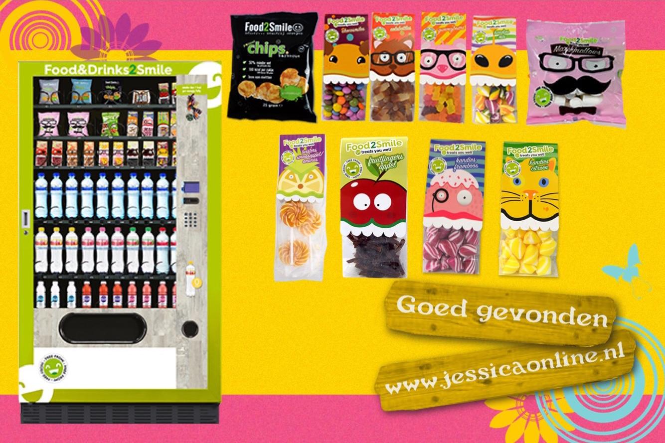 Food@Smile Fending machine JessicaOnline.nl