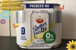 Radler zonder toegevoegde suiker en 0.0 % alcohol