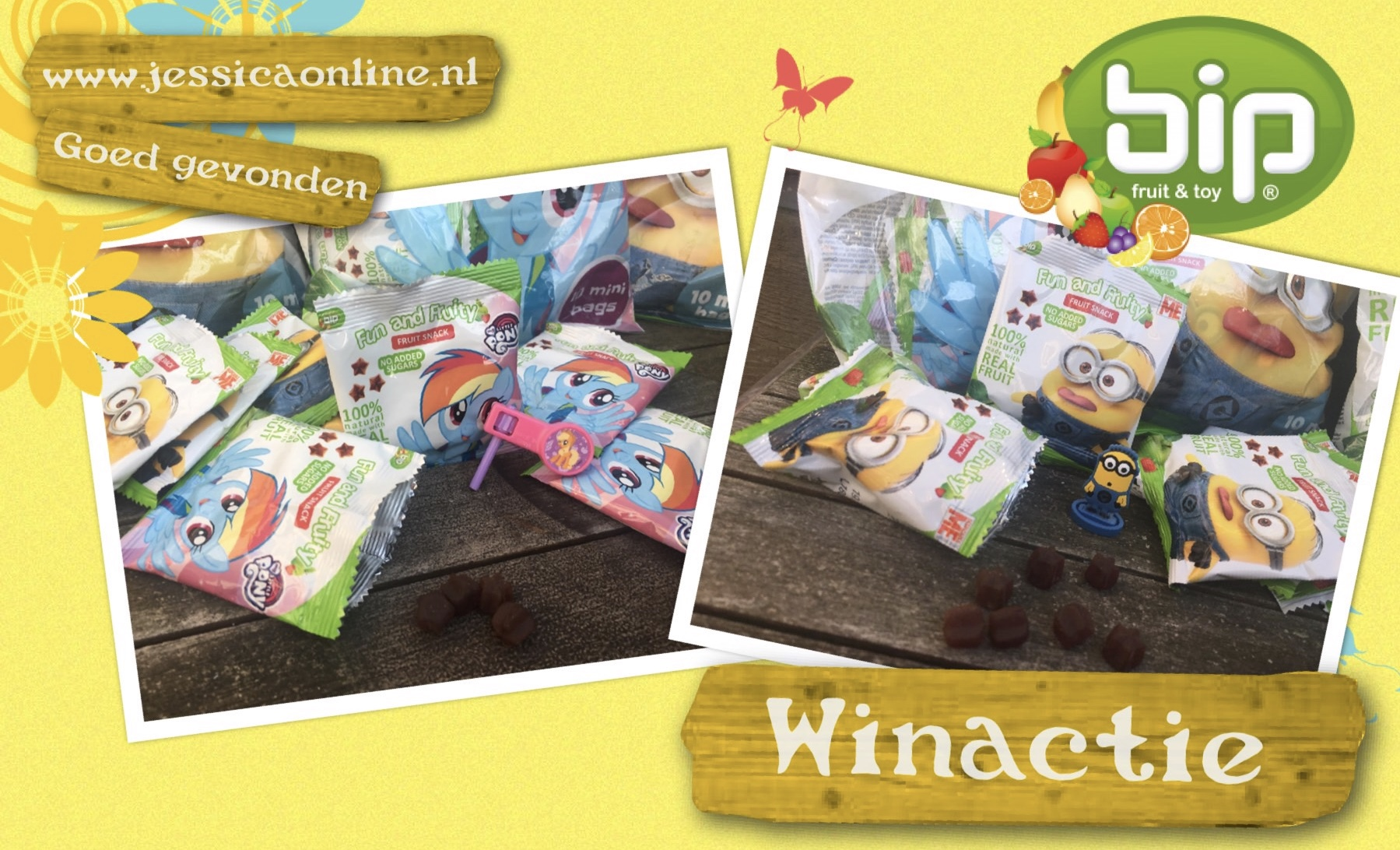 winactie BIP uitdeelpakket van minions en Unicorn