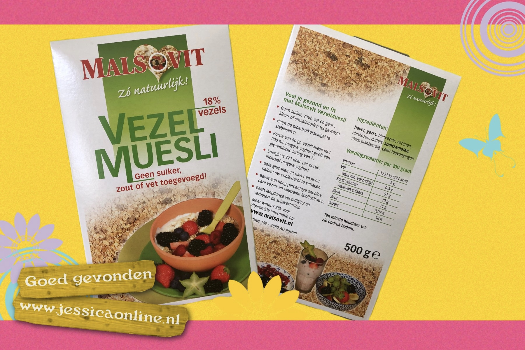 Vezel muesli Malsovit - JessicaOnline.nl