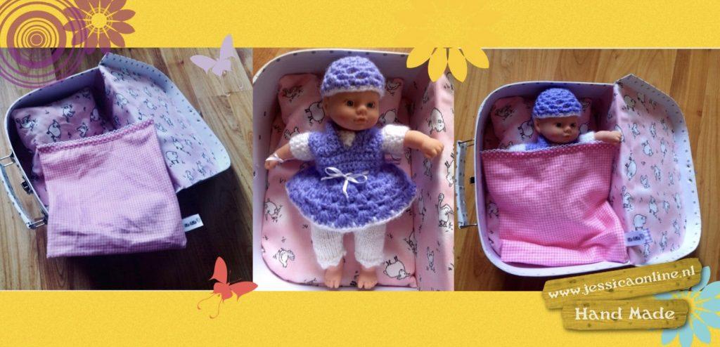 baby in een koffertje handmade JessicaOnline.nl