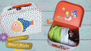 monchhichi in een koffertje handmade JessicaOnline.nl