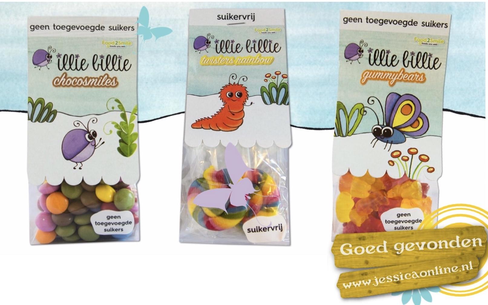 Suikervrije snoepjes van Illie Billie en Food2Smile