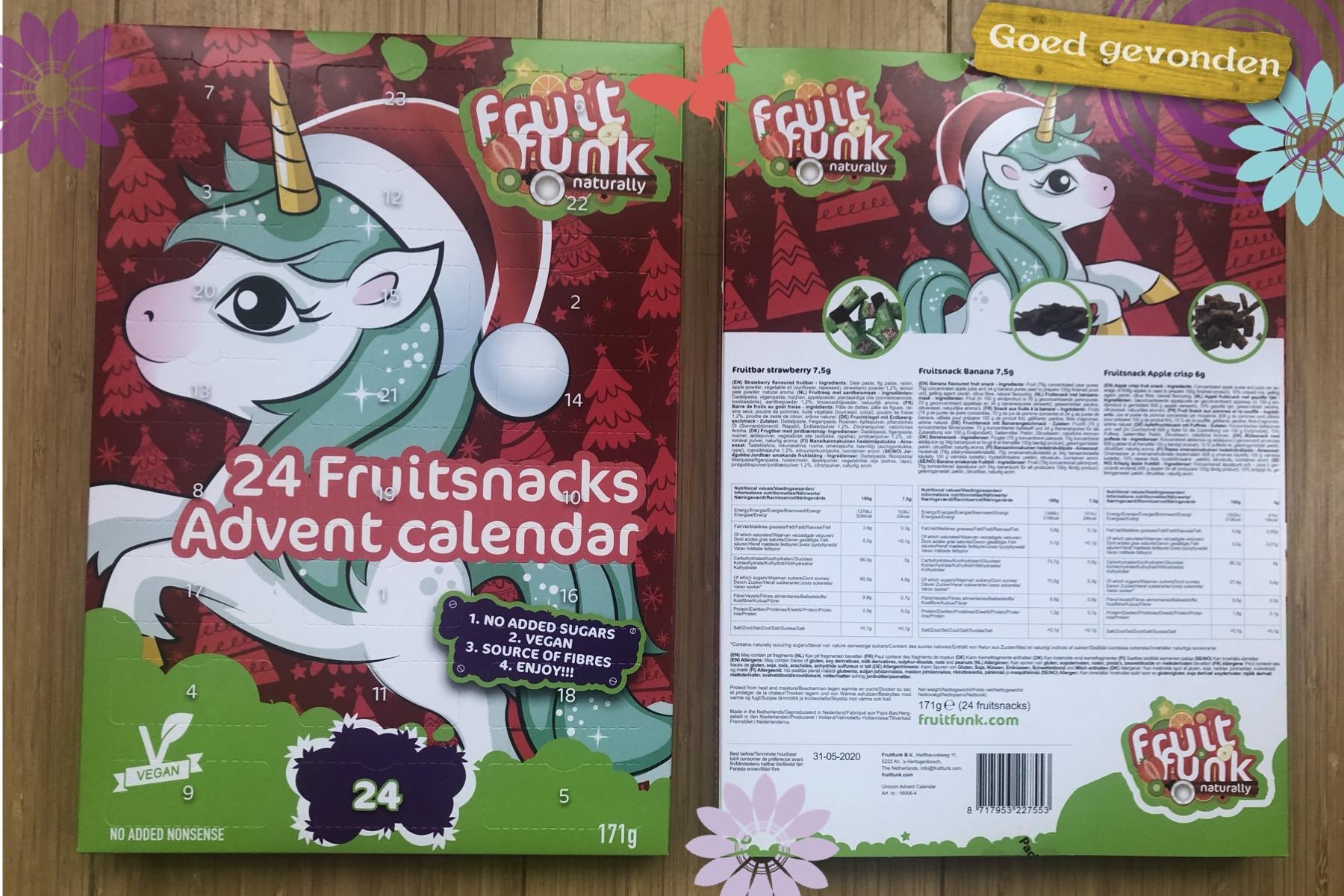 Adventkalender zonder toegevoegde suikers