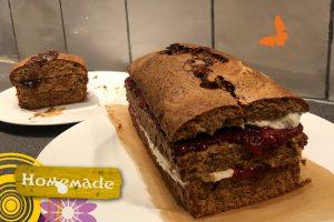 smeltcake met aardbeien en room JessicaOnline.nl