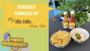 Koriander roomkaas dip met illie billie sweet chili - JessicaOnline.nl