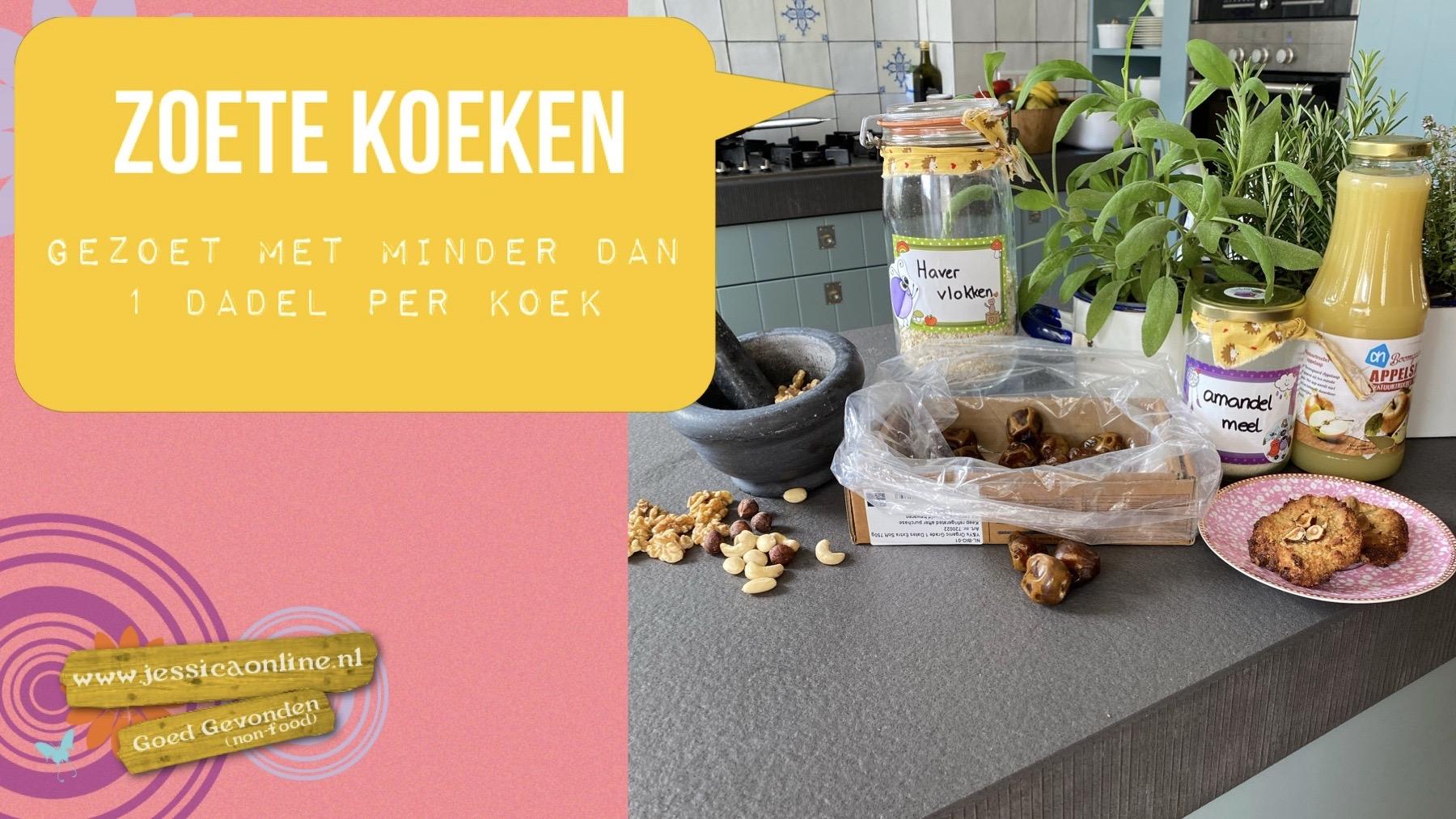 Zoete Koeken gezoet met minder dan 1 dadel per koek!