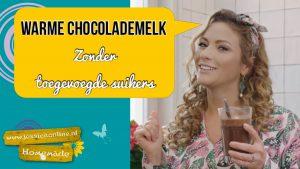 Warme chocolademelk zonder toegevoegde suikers JessicaOnline.nl